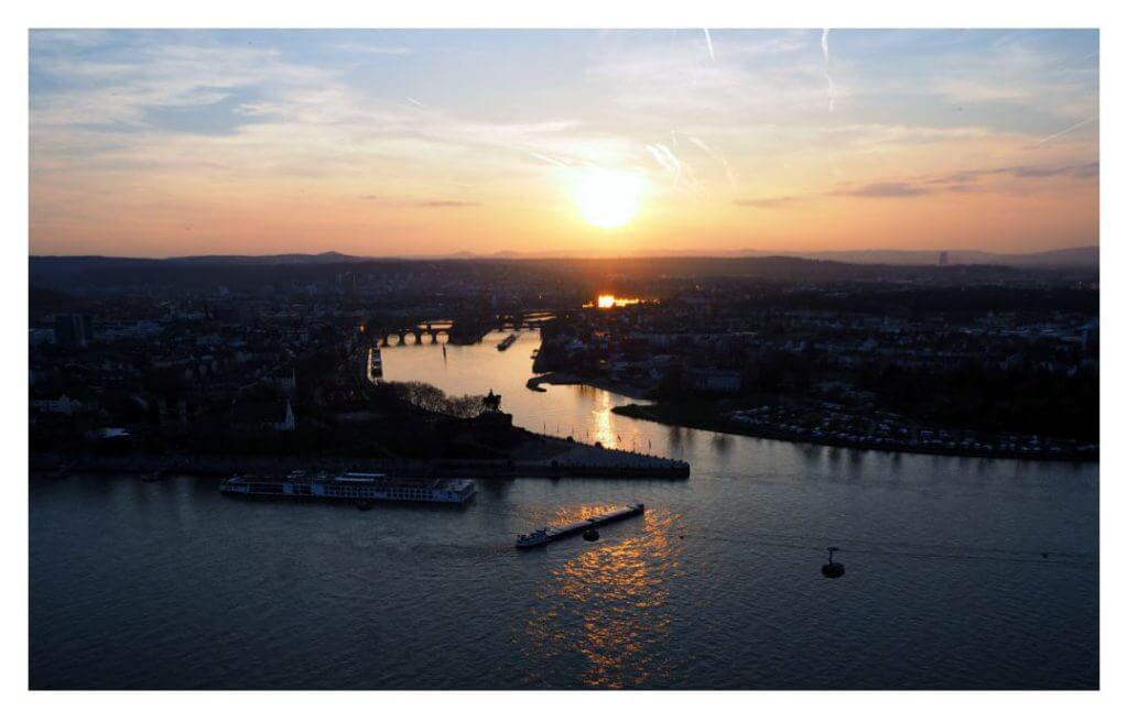 Koblenz in der Abendsonne, Foto: Eike Kunz