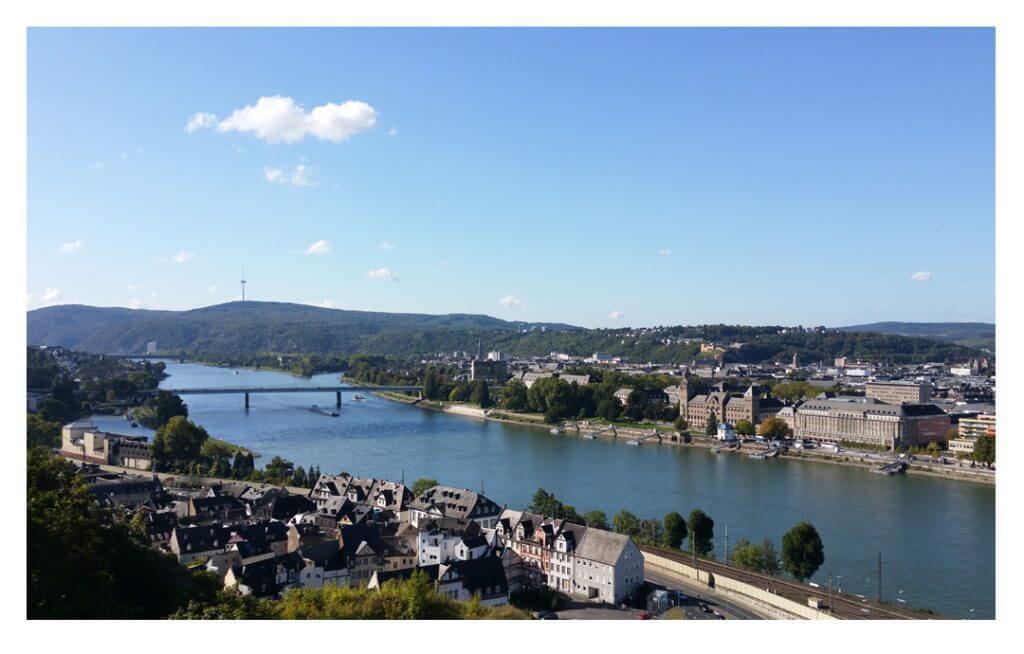 Blick über Koblenz-Ehrenbreitstein, Foto: Jennifer Kussowski