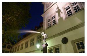 Schängelbrunnen am Abend, Foto: Diane Henkel