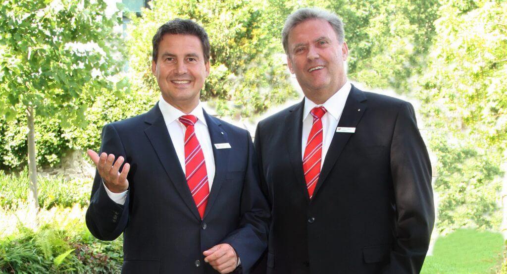 Vorstand der Sparkasse Koblenz: Matthias Nester (links) und Ernst Josef Lehrer