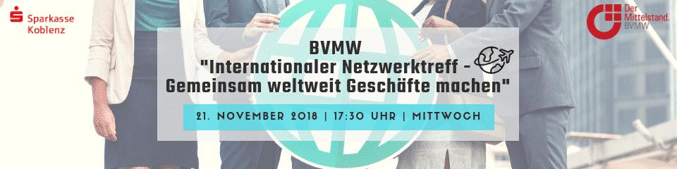 Veranstaltung BVMW und Sparkasse Koblenz: Internationaler Netzwerktreff