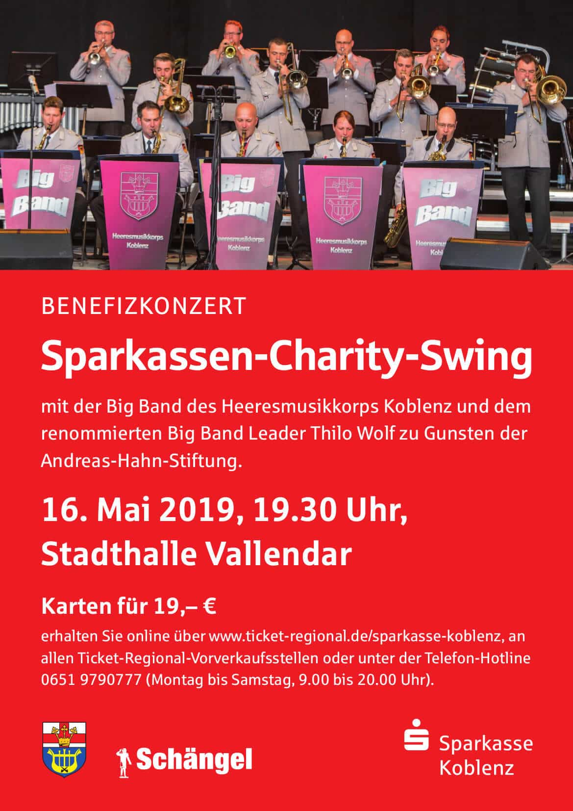 Plakat Konzert Heeresmusikkorps 16. Mai 2019