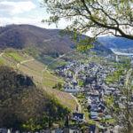 Blick vom Bleidenberg auf Alken und Burg Thurant