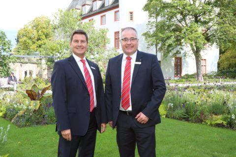 Der Vorstand der Sparkasse Koblenz, von links: Matthias Nester und Jörg Perscheid.
