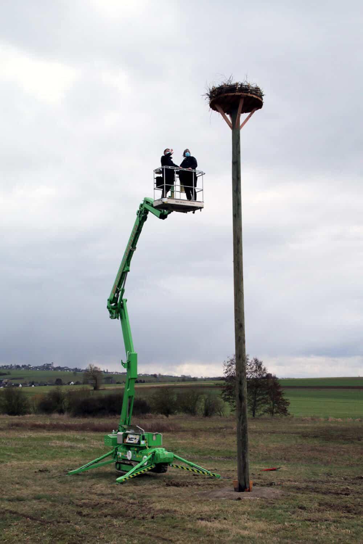 Sparkasse Koblenz: Förderung Storchenplattform in Rüber