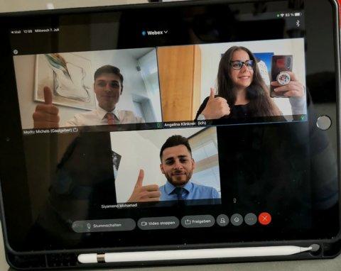 Videokonferenz Azubis