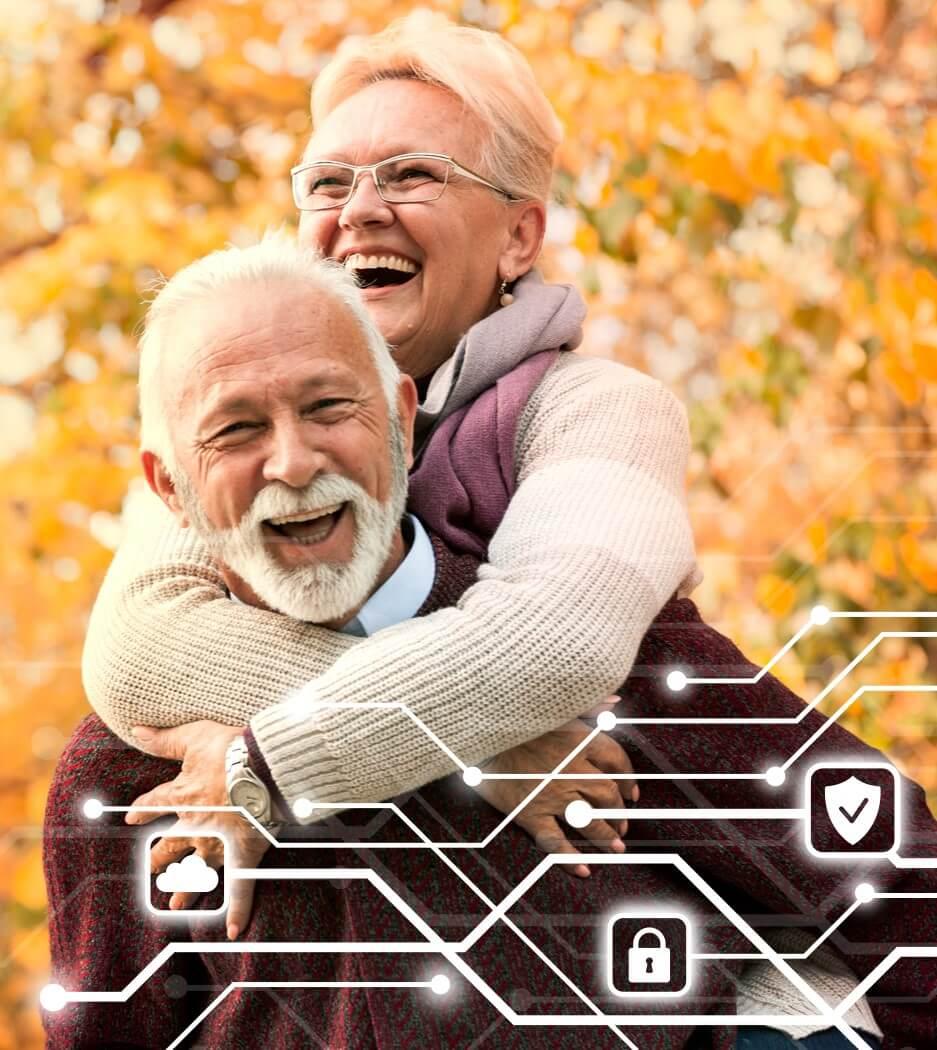 Älteres Paar Senioren